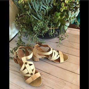 Franco Sarto Leather Sandals sz 8M